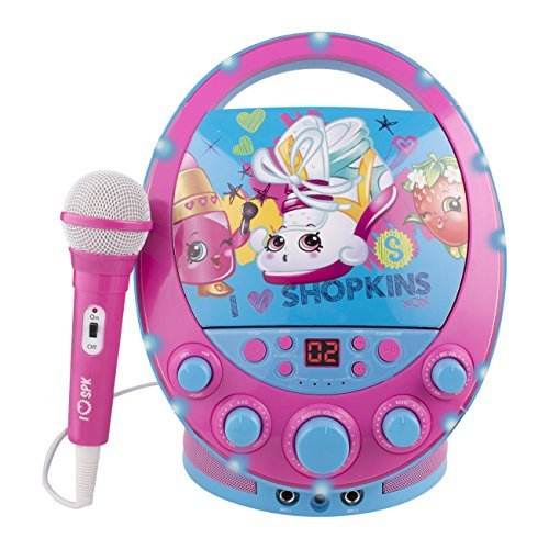 Shopkins Flashing Light Portable Kids Music Karaoke Machine