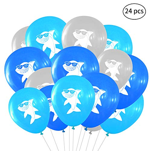Shark Latex Balloons for Kids Boys Girls Bithday Baby Shower Party Pool Party Under The Sea Shark Theme Party Decorations Supplies