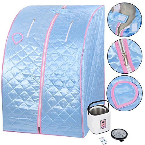 Koval Inc. 2L Portable Steam Sauna Tent SPA Detox Weight Loss W Chair Color Opt (Blue)