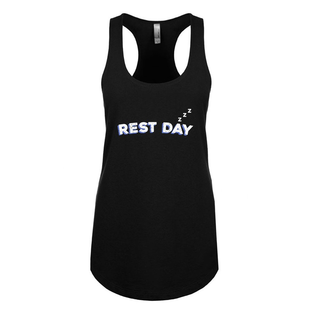 Mad Over Shirts Rest Day Unisex Premium Racerback Tank top