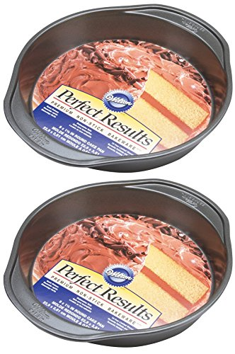 Wilton 2105-6059 Perfect Results Nonstick Round Cake Pan, 9 by 1.5-Inch, Pack of 2 Pans
