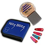 Lice Comb for Nits Free Hair, better than Lice Shampoo, Kill Lices Fast with The Nitz Blitz Louse Treatment combs. Keep Your Children Safe with Our Product