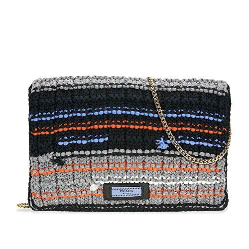Prada Knit Wool with Fabric Tricot Bag - Emerald ()