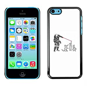 FU-Orionis Colorful Printed Hard Protective Back Case Cover Shell Skin for iPhone 5C - Predator Cats - Funny