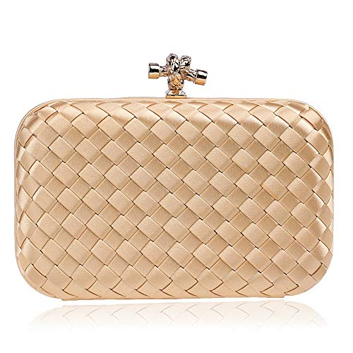 Wershiny Evening Bag Formal Handbag Simple Classy Purse Woven Handbags Banquet Clutch Bag Evening Bag
