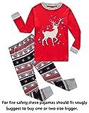 Family Feeling Big Girls Boys Long Sleeve Christmas Pajamas Sets 100% Cotton Pyjamas Kids Pjs Size 10 Reindeer