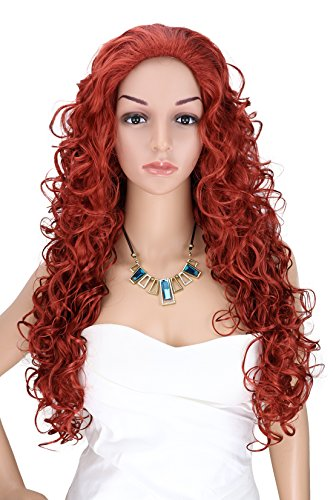 [Kalyss Women's Long Curly Red Hair wigs] (Long Red Wigs)