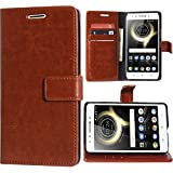 Erotic Magnetic Lock Diary Wallet Style Flip Cover Case for Lenovo K8 Note (Brown)