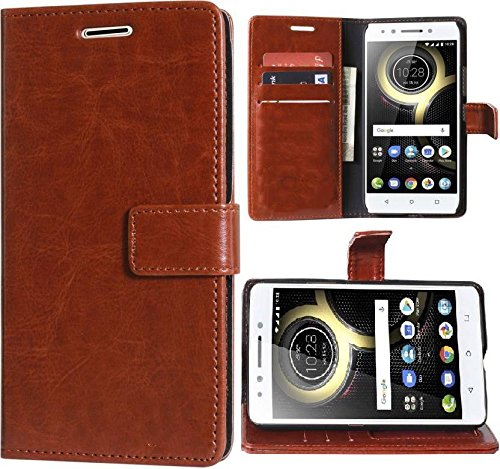 Stylish Luxury Mercury Magnetic Lock Diary Wallet Style Flip Cover Case for Lenovo K3 Note  Cherry