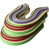 Lantee Quilling Paper Quilling Art 2080 Strips Set 3mm 5mm 7mm 10mm (15 inch, 26 Colors, 8 Sets)