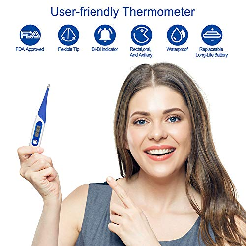 Digital Thermometer Medical - FASIPY Accurate Oral and Rectal Thermometer for Adult & Baby with Fever Indicator by Fasipy (Image #2)