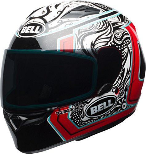 Bell Qualifier Full-Face Motorcycle Helmet (Gloss White/Black/Red Splice, XX-Large) ()