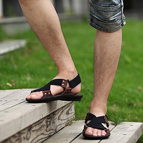 Xing Lin Sandalias De Verano Transpirable Zapatos De Hombre _ Nuevos Hombres Casual Sandalias De Playa De Hombres Transpirable Zapatos Sandalias Zapatos De Hombre Ola black