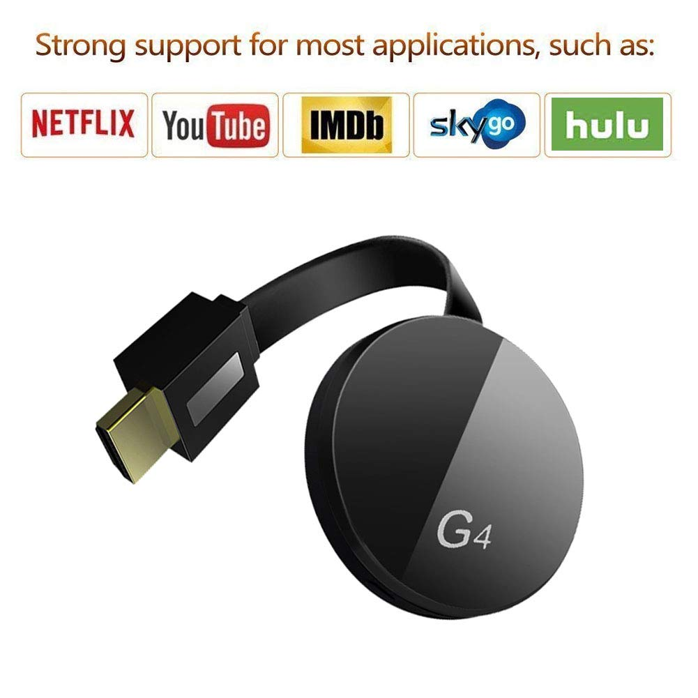 Wireless Display Dongle Receiver - High Speed HDMI Miracast Dongle Compatible for Android Smartphone Tablet Apple iPhone iPad, TV,1080P Wireless HDMI Dongle