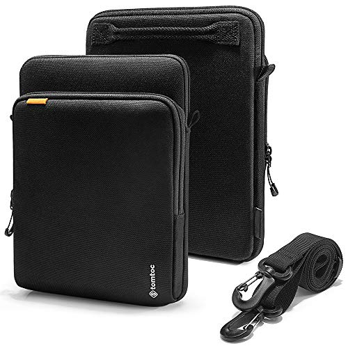 tomtoc 360 Protection Tablet Shoulder Bag Designed for 12.9 inch New iPad Pro (3 Rd Gen) 2018-2019 with Apple Pencil Smart Keyboard, with Handle and Organized Pocket for Tablet Accessories