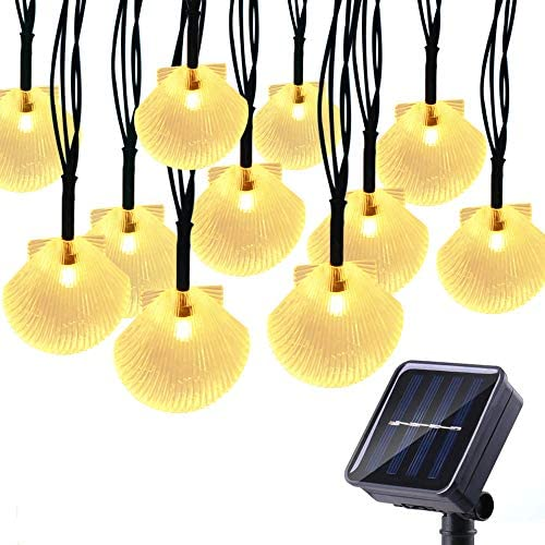 Solar String Lights Outdoor,MOWASS 13ft 20 LED Christmas Decorative Lights for Holiday Wedding Garden Patio Party, IP64 Waterproof