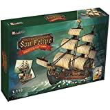 3D Jigsaw Puzzle The Spanish Armada-San Felipe CubicFun 3D Puzzle T4017h 248 Pieces Decorative Fashion Best Seller Cubic Fun ® Exiting Fun Educational Historic Playing Building Game DIY Holiday kids Best Gift Toy Set by CubicFun