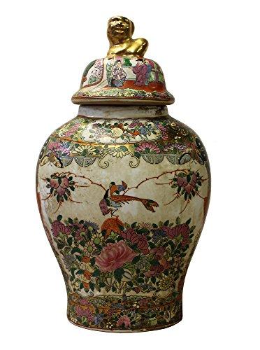 Chinese Oriental Famille Rose Porcelain People Scenery Flat Jar Acs3051