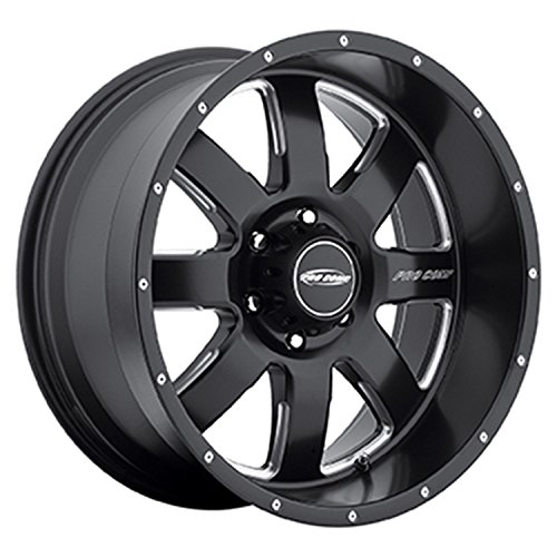 All Pro Off Road (Pro Comp Alloys Series 83 Vapor Matte Black Wheel with Milled Accents (17x9