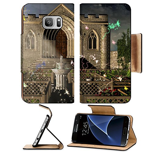 Liili Premium Samsung Galaxy S7 Flip Pu Leather Wallet Case IMAGE ID: (Stairway Plant Stand)
