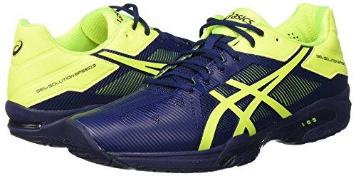 Tennis Tennis Tennis solution Scarpe Da Asics giallo Gel Uomo blu safety indigo 3   d33ede