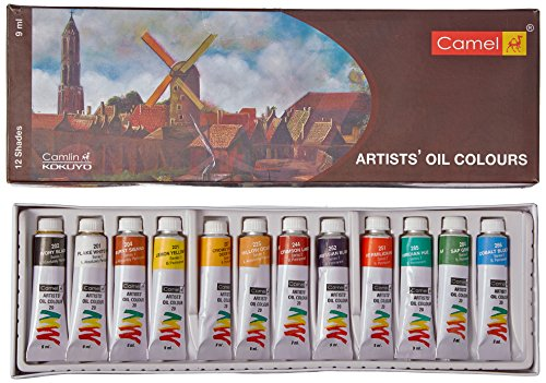 Camel Artist's Oil Color Box – 9ml Tubes, 12 Shades