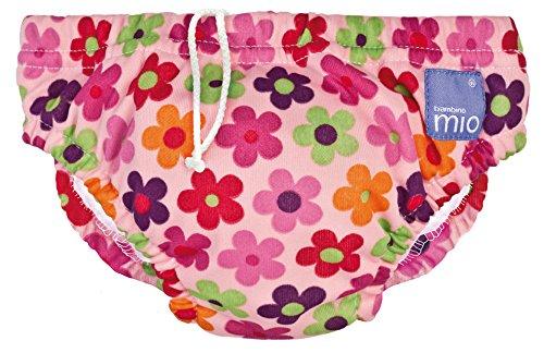 Bambino Mio Swim Nappy, Pink Daisy, 16-21 Lbs, 1-Pack 11-52012