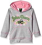 John Deere Baby Girls' Fleece Pullover Poly Tech Hoody, Grey, 3T