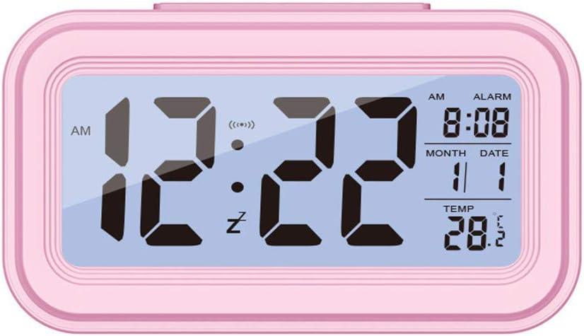 CZHJG Reloj Silencioso Reloj Electrónico Despertador Inteligente con Sentido De Luz Despertador Reloj Inteligente Led Despertador Rojo