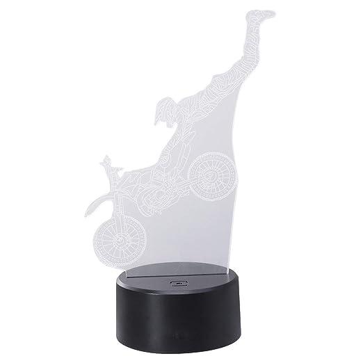 Amazon.com: OSALADI 3d LED Control Táctil Escritorio Luz ...