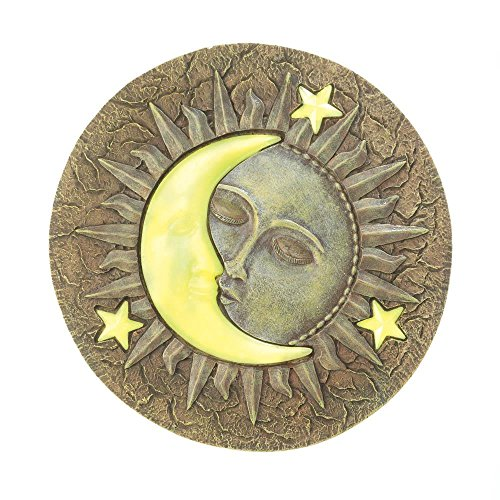 Decor and More Store Set of 5 Glow in The Dark Moon and Stars Garden Stepping ()