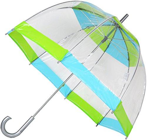 Totes Clear Bubble Umbrella Green