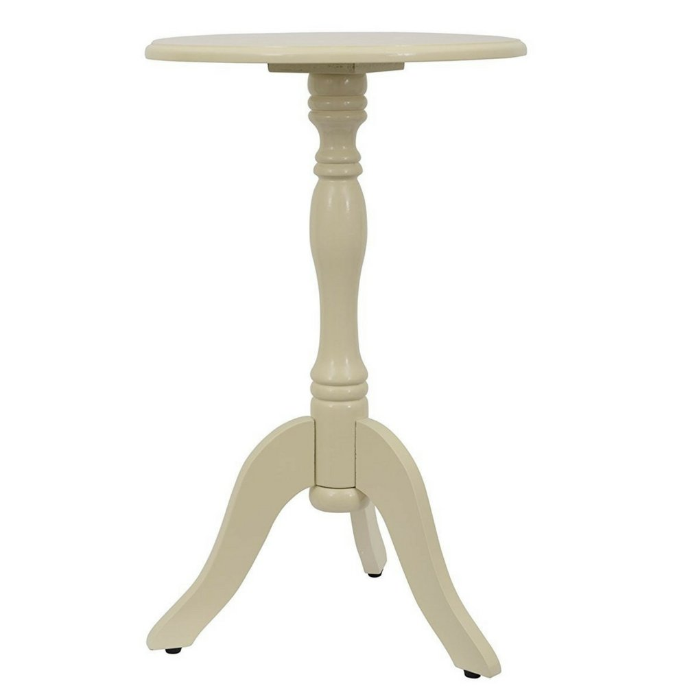 Round Pedestal Bistro Table Side Table For Small Spaces Accent Table Threshold Small Minimal Unique Modern Contemporary Hallway Living Room Entryway Small Rounded End Table Simply And eBook By NAKSHOP