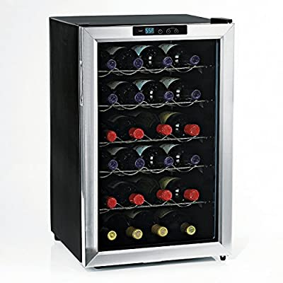 Wine Enthusiast Silent 28 Bottle Wine Refrigerator -Stainless Steel Trim