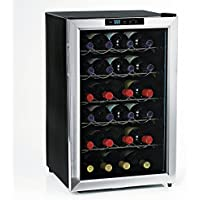 (DR) 28-Bottles Silent Wine Refrigerator, Wine Cooler w/ Stainless Steel Trim and Door (S1011)