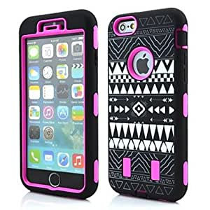 LIMME 3in1 Robots Tribal Pattern Silicone Cover for iPhone 6 (Assorted Colors) , Green