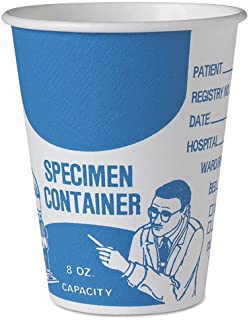 product image for SOLO Cup Company Paper Specimen Cups, 8 oz, Blue/White - Includes 20 bags of 50 cups each