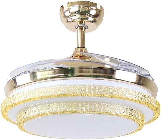 Hyvaluable Ventiladores de Techo creativos con lámpara, lámpara ...