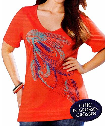 Damen Longshirt - T-Shirt - Modisches Basic L - XL - XXL Slub-Garn Optik