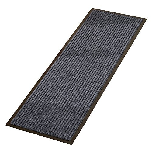 Trenton Gifts All Weather High Traffic Skid-Resistant IndoorOutdoor Floor Runner Rug | Charcoal | 15 x 48 x 5.4 inches by Trenton Gifts