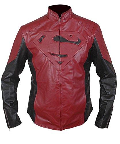 Maroon Chaqueta Cuero Leatherly de hombre Negro Chaqueta Sintético Superman BFnC6nq