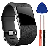 Best Kits For Fitbits - QGHXO Band for Fitbit Surge, Soft Silicone Adjustable Review
