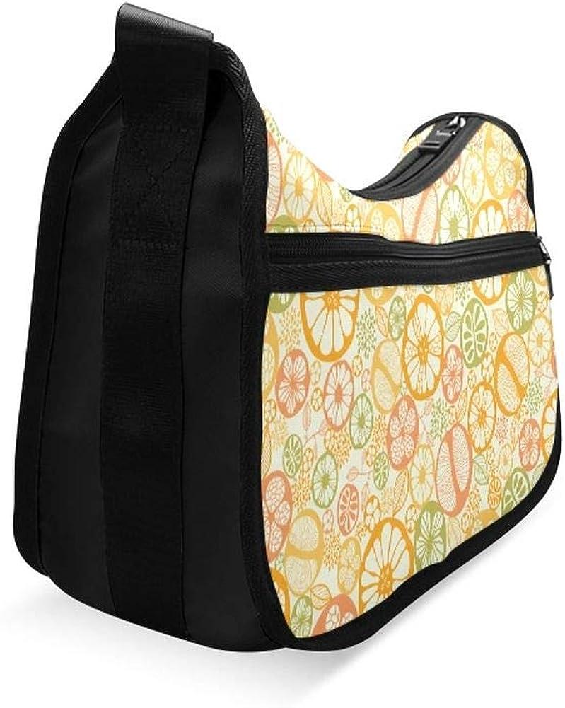Fresh Pink Grapefruits Messenger Bag Crossbody Bag Large Durable Shoulder School Or Business Bag Oxford Fabric For Mens Womens