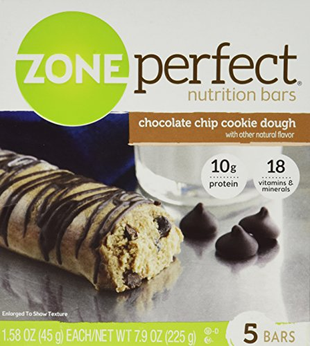 Zone Perfect Nutrition Bars, Chocolate Chip Cookie Dough, 7.9 oz (Pack of 4)