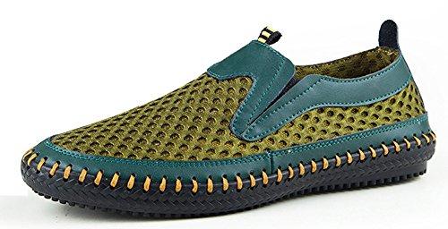 MOHEM Mens Poseidon Mesh Walking Shoes Casual Water Shoes Green