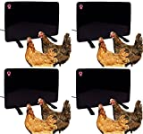 Cozy Products Safe Chicken Coop Pet Heater 200W Flat Panel Technology, One Size, Black (Pack of 4)
