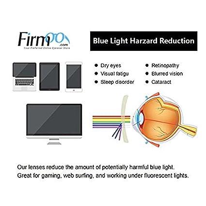 Firmoo Blue Light Blocking Computer Glasses,Round Metal Frame Anti Blue Light Gaming Eyewear for Women Men