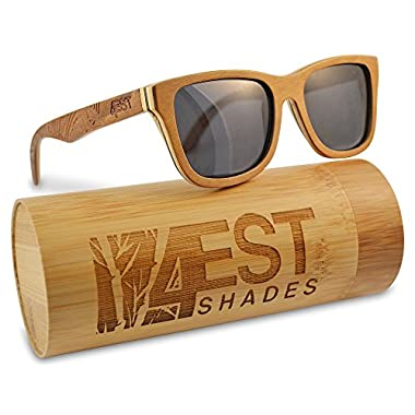 Wood Sunglasses made from Maple-100% polarized lenses in a wayfarer that floats!