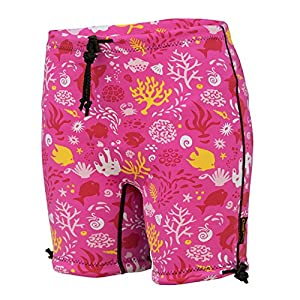Conni Kids Containment Swim Short Washable Swim Diaper for Incontinence and Potty Training, Sunset Pink, Size 4-6