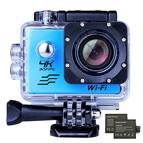 4K WIFI Sports Action Camera Waterproof 170° Ultra Wide-Angle 2.0Display 16 MP Camcorder with 2 Pcs Rechargeable Batteries 1050 mah 25 Accessories Kits by Ejotc [並行輸入品]   B07CNPF8TN